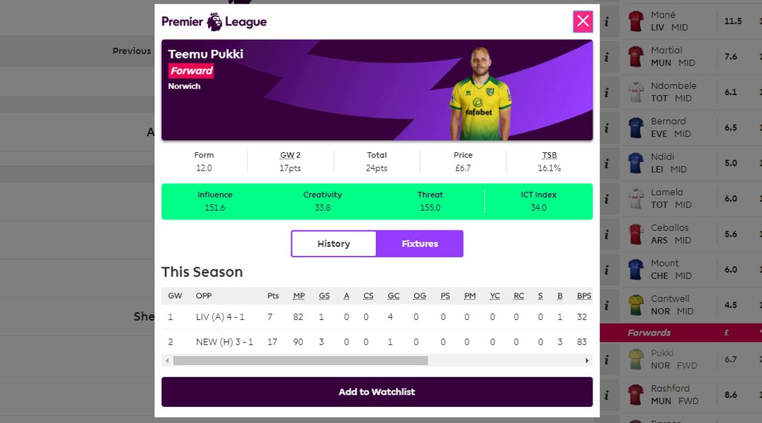 Fantasy football FPL – Game week 2 round-up